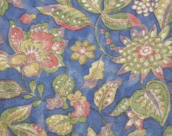 Vintage kimono S332, floral pattern   silk