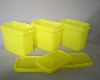 Yellow Tupperware Storage Containers-Like New Tupperware