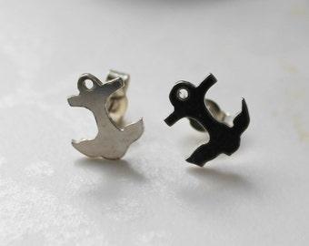 Tiny Tattoo Anchor Earrings