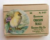 Vintage Dennison Dennisons Chicken Seals 1920s  No B-627 Rare