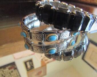 Black turquoise bracelets