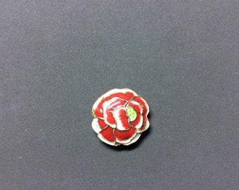 Cloisonné  beads (4 pieces) Rose