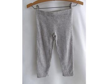 100% Cashmere Sweater Kids Pants Size 8 Gray Leggings Barneys Boys Girls NWT