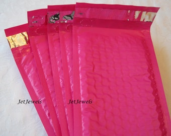 25 Hot Pink Bubble Mailers, Hot Pink Envelopes, Mailing Envelope, Bubble Mailer, Shipping Envelopes, Padded Envelopes, Shipping Supplies 4x8