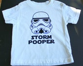Storm Pooper Toddler T Shirt - White Shirt