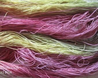 "Size 40 ""Succulent Spring"" hand dyed thread 6 cord cordonnet tatting crochet cotton"