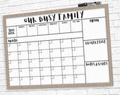"HUGE Family Calendar 24"" x 36"" Large Printable - 2 Styles!"