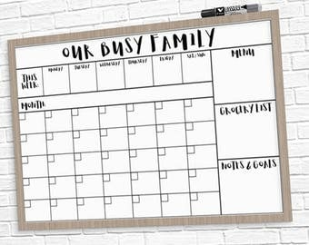 "HUGE Family Calendar 24"" x 36"" Large Printable - 3 Styles!"
