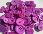 Purple Buttons - Sewing Button Assorted Round Buttons - 100 Buttons - Very Violet