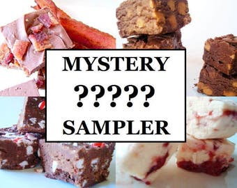 Julie's Fudge - MYSTERY Fudge Lover's Sampler Pack - Six Flavors - One and a Half Pounds