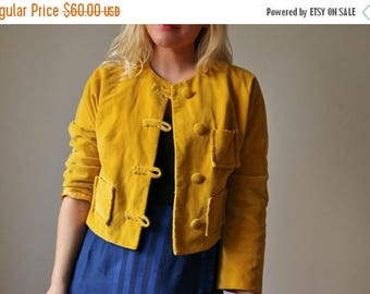 SPRING SALE 1950s Marigold Velvet Jacket >>> Size Medium