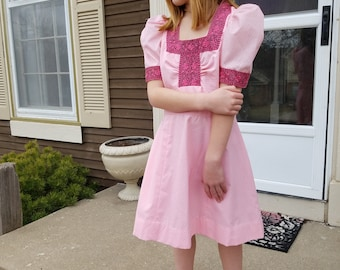 Vintage Girls Pink Summer Dress