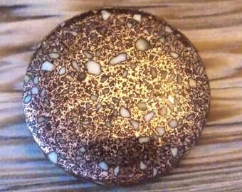Round Copper Firebrick Cabochon