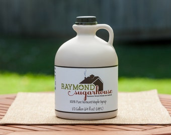 2017 1/2 GALLON 100 Percent Pure Vermont Maple Syrup with FREE SHIPPING