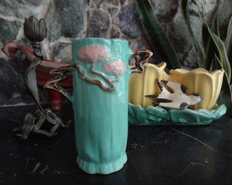 Roseville Ming Tree Vase. 581-6. Green