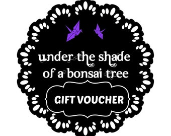50 Dollars - Gift Voucher (AUD) in the Under the Shade of a Bonsai Tree store, gift card