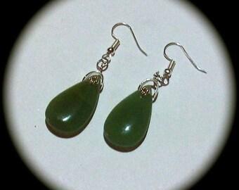 Green Aventurine Long Dangle Fashion Earrings for Every Day Wear boho gypsy native spring summer gemstone aventurine teardrop