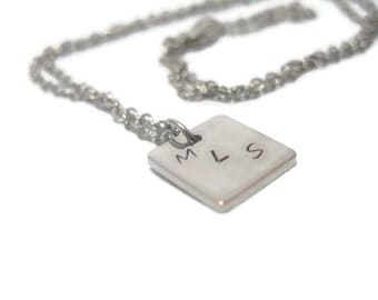 Initials Hand Stamped Customizable Necklace