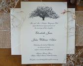 RESERVED FOR RACHEL 70 Elegant Savannah Live Oak Tree Wedding Invitation Suites