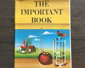 The Important Book by Margaret Wise Brown First Edition 1949 with dust jacket