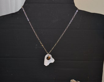 Maine Clam Shell Necklace, Handmade