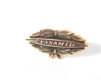 Vintage Cyanamid Lapel Pin / Tie Tack, Mid Century