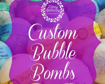 Custom Bubble Bath Bomb * Choose Your Scent and Color * Custom Bath Fizzies * Made to Order *