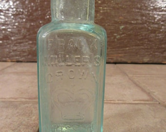 Frank Miller's Crown Dressing old bottle- New York- collectible, beautiful, good condition