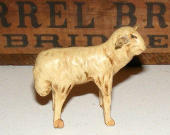 Antique German Putz Sheep Figure marked Germany