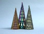 Decorative Christmas Lights | Christmas Tree Light Set | Laser Cut Holiday Decor | Handmade Christmas Tree Lights | Tea Light Tree Lantern