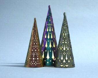 Decorative Christmas Lights   Christmas Tree Light Set   Laser Cut Holiday Decor   Handmade Christmas Tree Lights   Tea Light Tree Lantern