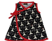 On SALE 45% OFF Japanese Clothing- Kokeshi Doll - Minimalist Baby - Black and Red - Girls Dresses - Harajuku Dress - Baby Dress - Japanese B