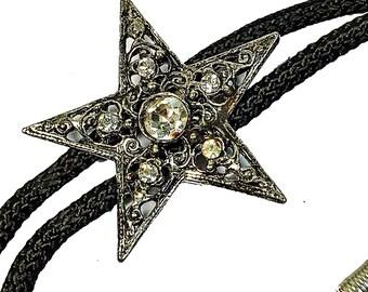 Vintage Star bolo tie neck ware Western