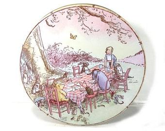Small Winnie the Pooh Tin - Vintage Tin from Disney