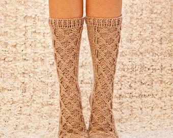 Crochet PATTERN for socks - Cable Socks