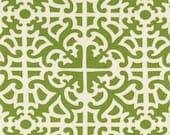 "Green Geometric Curtains, Green Home Decor, Damask Curtains, Trendy Drapes, Custom Lattice Window Treatments, Rod-Pocket One Pair 50""W"