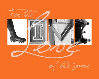 "Illinois Fighting Illini ""For the Love of the Game"" Photographic Print"