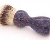 Blue Box Elder Burl 26mm Super Silvertip Badger Hair Shaving Brush Handle (Handmade) B1 - 5th Anniversary Gift - Shaving Kit