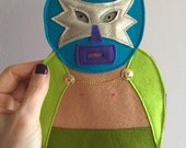 Handmade Mexican Wrestler Tree Topper, Luchadore Treetopper, Christmas Tree Decoration, Kitsch