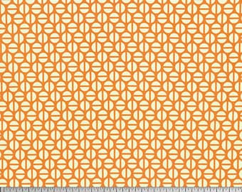 """Heather Bailey PWTC036 Divvy Dot Orange Mod True Colors BTHY Half Yd 18"""" Freespirit Quilting Quilt Sew Sewing Polka Dotted Modern Fabric"""
