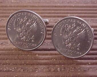Russia Coin Cuff Links