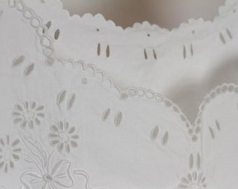 Antique French Hand Embroidered Chemise, Heirloom