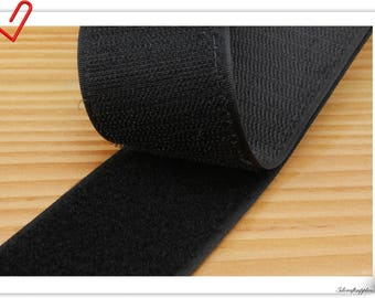 2 inch (5cm)  Black elcro strap Hook & Loop strap sew on fasteners 5 yards  MX1