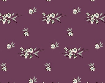 Purple Vintage Floral Fabric - Ditsy Floral - Soft Plum By Laurapol - Nursery and Wedding Flowers Cotton Fabric By The Yard With Spoonflower