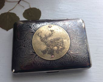Buck Etched Wallet / Cigarette Case in Victorian Filigree