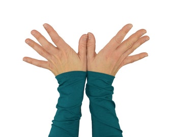 Arm Warmers in Teal Green - Bamboo Cuffs - Eco Friendly - ONLY PAIR