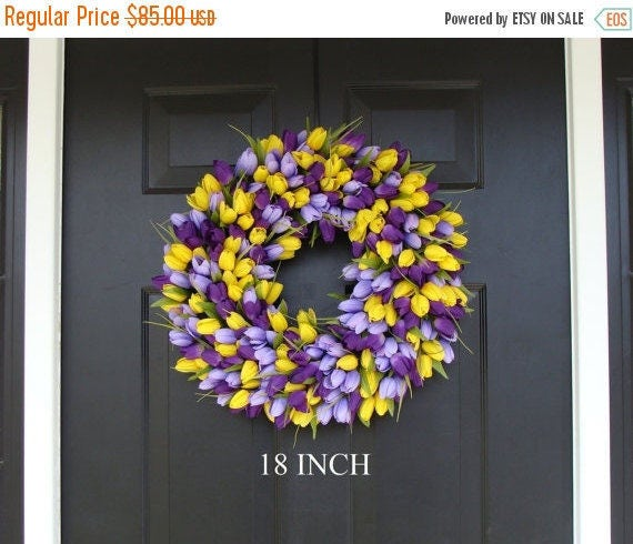 SPRING WREATH SALE Spring Wreath- Front Door Wreath- Lavender Wreath- Spring Wreath for Door- Summer Wreath
