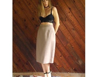 25% off Flash Sale . . . High Waisted Pleat Front Pencil Skirt - Vintage 80s - S/M 4