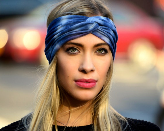 Boho Headband Tiedye Turban Headband Gift For Her Spring Fashion Headband For Women Adult Headband Yoga Workout Headband Bandeau Bandana