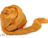 TOPAZ - Bamboo Viscose Roving Combed Top for Felting or Spinning Cellulose Vegan Fiber 4 oz